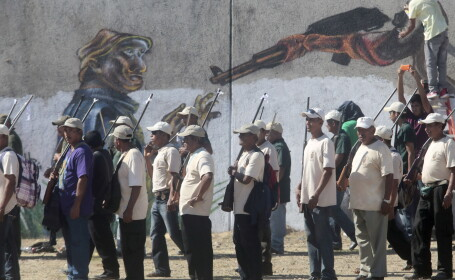 Luptatori vigilante din statul mexican Michoacan