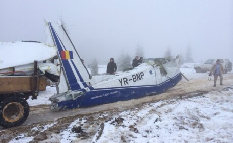 Avionul prabusit in Apuseni