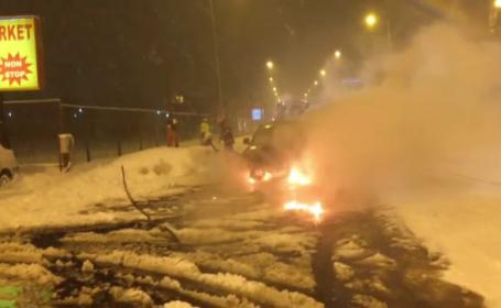 O masina a ambasadei SUA la Bucuresti a luat foc. Ce a aparut pe bordul masinii cu putin timp inainte de incident