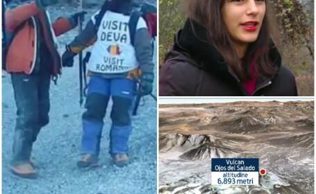 Alexandra Marcu, alpinista de 17 ani, a cucerit cel mai inalt vulcan activ din lume. \
