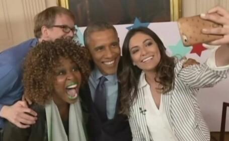 Moment stanjenitor pentru Barack Obama in timpul unui interviu cu vedetele YouTube: \