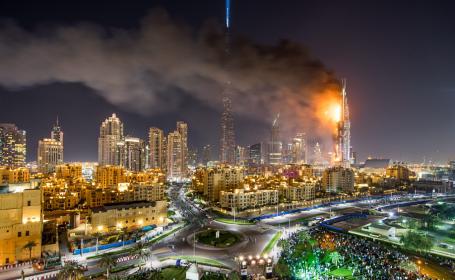 incendiu hotel Dubai