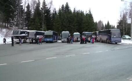 Craciunul pe rit vechi. Turistii din Rusia, Ucraina si Moldova au venit sa petreaca in Romania pe bani putini