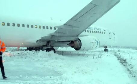 Avion Blue Air care a iesit de pe pista in Cluj
