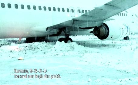 avion Blue Air iesit de pe pista