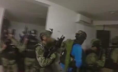 Primele imagini cu raidul tensionat in urma caruia \