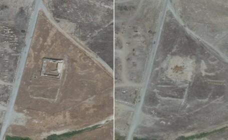 Cea mai veche manastire crestina din Irak, distrusa de jihadisti. \