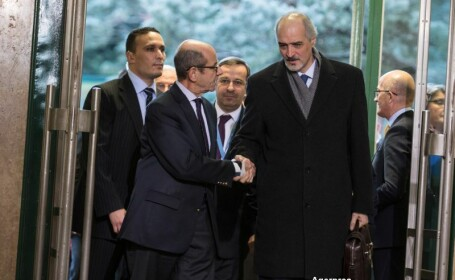 Opozitia siriana s-a intalnit la Geneva cu emisarul ONU. Conditia pusa pentru a incepe negocierile privind pacea in Siria