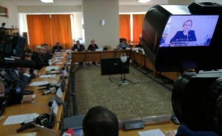 Dispute la audierea ministrului propus la MAI, Carmen Dan. Sedinta a avut loc cu usile inchise, iar jurnalistii, scosi afara