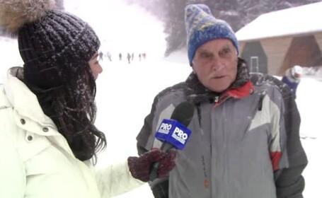 Povestea lui Dan, un instructor de schi din Poiana Brasov care a depasit un record de varsta. Care este secretul sau