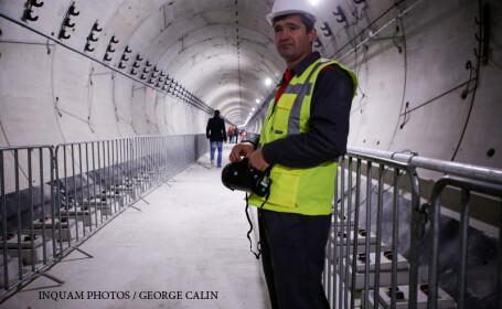 Imagine din tunelul care leagă staţiile de metrou Favorit şi Drumul taberei 34, în timpul evenimentului