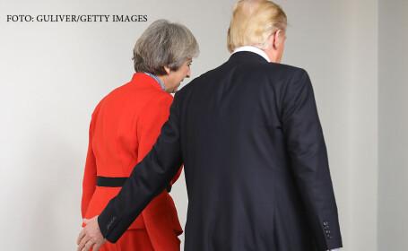 Donald Trump si Theresa May