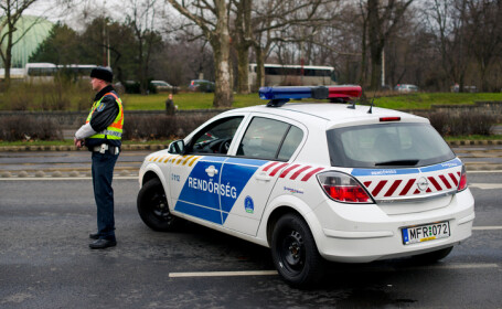 masina de politie in Budapesta