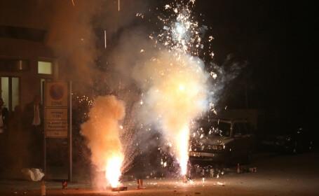 petarde explodând pe stradă în Germania