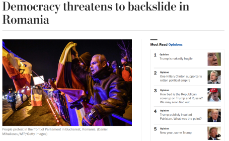 "Washington Post: ""Românii au nevoie de sprijinul guvernelor occidentale"""
