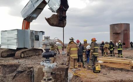 Intervenţia la sonda din Satu Mare, finalizată la 20 de zile de la izbucnirea incendiului