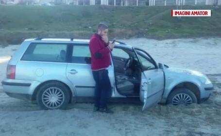 Amenda primită de un tânăr care s-a plimbat duminică pe malul mării, cu mașina