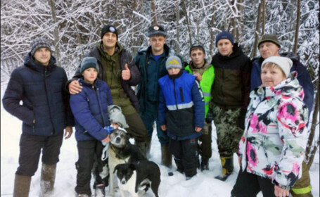 Doi copii din Rusia, salvaţi de la îngheţ de câini după ce s-au rătăcit în pădure