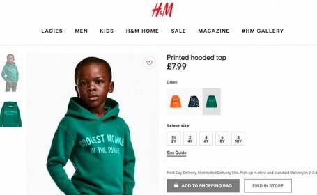 Campanie H&M retrasă după acuzaţii de rasism. \
