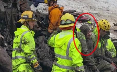 17 decese în California după alunecările de teren. Imagini dramatice cu operațiuni de salvare