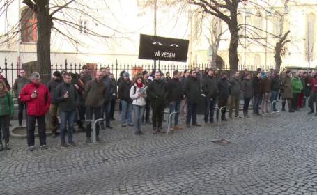 Peste 150 de oameni, prezenți la protestul \