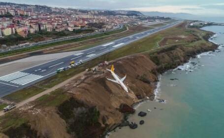 Avion, la un pas să ajungă în Marea Neagră