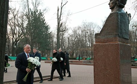 Preşedintele pro-rus de la Chişinău sugerează că Eminescu nu era român, ci \