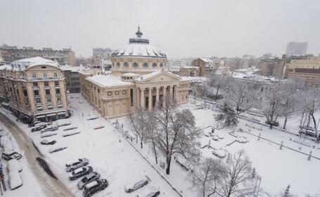 Prima ninsoare, în Capitală