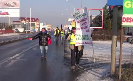 Protest pe jos