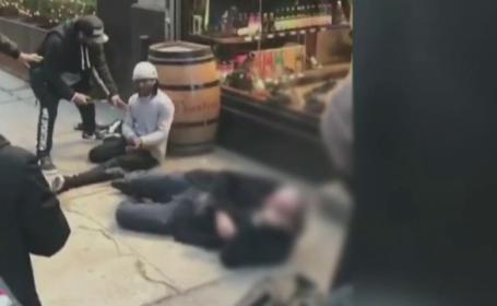 Românul împușcat la New York a fost externat. Martorii au crezut că a fost un atentat terorist