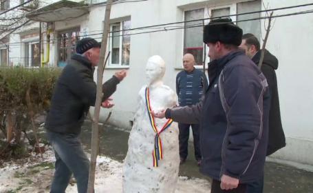 statuie din zăpada, Galați