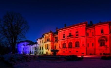 Palatul Cotroceni a fost luminat în culorile tricolorulu