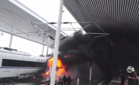 Tren de mare viteză din China, cuprins de flăcări. Gara a fost închisă preț de zeci de minute
