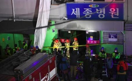 Un incendiu devastator a mistuit un spital din Coreea de Sud