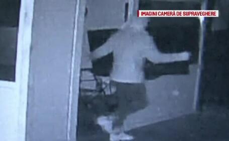 Un bărbat mascat a furat un televizor din sediul unei firme, la Bacău