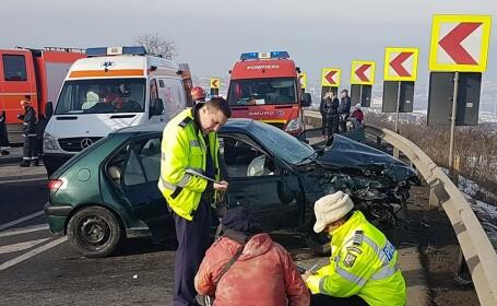 Accident grav pe Calea Turzii, în județul Cluj: patru persoane, transportate la spital