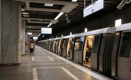 Un bărbat s-a aruncat în fața trenului, în stația Brâncoveanu. Mecanicul a frânat la timp