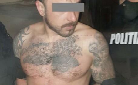 Arestat după ce a atacat poliţiştii cu un cuţit, apoi şi-a folosit familia drept scut uman