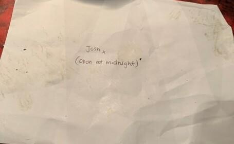 O scrisoare găsită de Revelion int-un club de noapte, viral pe internet. FOTO