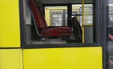 geam spart autobuz Ploiesti