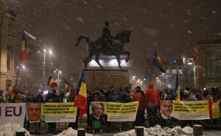 Protest ateneul roman