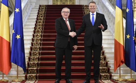 Preşedintele Comisiei Europene și comisarii europeni, primiți la Cotroceni. Mesajele lui Iohannis și Juncker