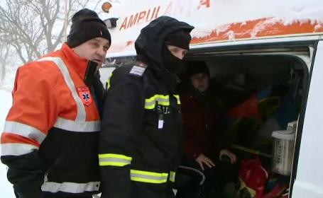 Probleme în Moldova din cauza zăpezii. O gravidă în luna a 9-a a cerut disperată ajutor