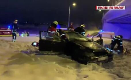 accident giratoriu brasov