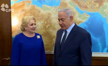 Viorica Dăncilă s-a întâlnit în Israel cu Benjamin Netanyahu