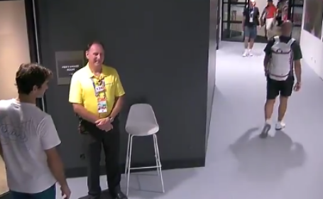 Roger Federer, poza, vestiar