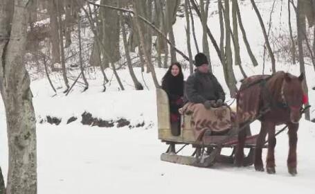 Muzeul în aer liber din România unde vă puteți plimba cu sania trasă de cai