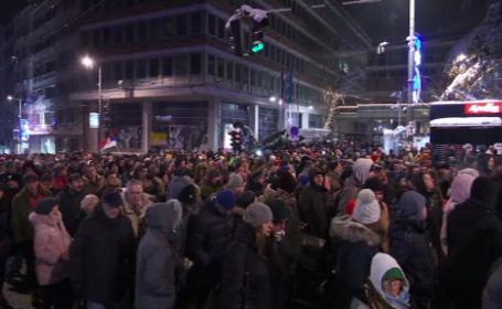 proteste, belgrad, sarbi,