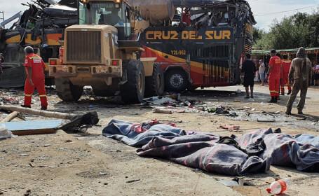 16 morți și 40 de răniți în Peru, după ce un autocar s-a ciocnit de opt microbuze