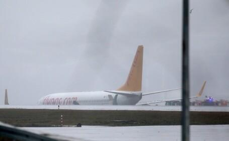 Un avion a ieșit de pe pistă în Istanbul. Toate zborurile, suspendate temporar